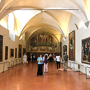 Artifacts inside the Saint Marks Museum in Florence, Italy.
