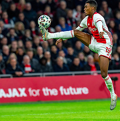Ryan Gravenberch #29 of Ajax in action during the match between Ajax and PSV at Johan Cruyff Arena on February 02, 2020 in Amsterdam, Netherlands