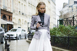 March 4, 2018 - Paris, France - Street Style With Tatiana Korsakova At The Givenchy Show During Paris Fashion Week on March 4, 2018 in Paris, France. (Credit Image: © Nataliya Petrova/NurPhoto via ZUMA Press)