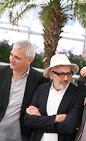 Laurent Cantet, Elia Suleiman, at the 7 Dias En La Habana photocall at the 65th Cannes Film Festival France. Wednesday 23rd May 2012 in Cannes Film Festival, France.