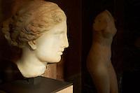 France, Paris, musee du Louvre, L'Aphrodite de Cnide de Praxitèle, le sculpteur athènien qui inventa le nu féminin (370-330 avant J.-C.) // France, Paris, Louvre museum