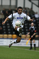 Photo: Pete Lorence.<br />Derby County v Bristol Rovers. The FA Cup. 27/01/2007.<br />Giles Barnes flicks the ball upfield.