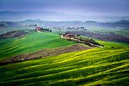 Rainy day. Landscape of Tuscany