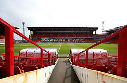 A general view of Oakwell, home to Barnsley - Mandatory by-line: Robbie Stephenson/JMP - 30/03/2018 - FOOTBALL - Oakwell Stadium - Barnsley, England - Barnsley v Bristol City - Sky Bet Championship