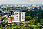 Nederland, Utrecht, Gemeente Utrecht, 26-06-2014; provinciehuis van Utrecht. Vroeger hoofdkantoor van Fortis.<br /> luchtfoto (toeslag op standaard tarieven);<br /> aerial photo (additional fee required);<br /> copyright foto/photo Siebe Swart.