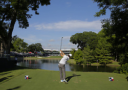 May 24, 2018 - Fort Worth, TX, USA - FORT WORTH, TX - MAY 24, 2018 - Kevin Kisner hits his tee shot to the par 3 13th hole during the first round of the 2018 Fort Worth Invitational PGA at Colonial Country Club in Fort Worth, Texas (Credit Image: © Erich Schlegel via ZUMA Wire)