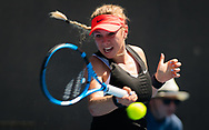 Amanda Anisimova of the United States in action during her first-round match at the 2019 Australian Open Grand Slam tennis tournament on January 14, 2019 at Melbourne Park in Melbourne, Australia - Photo Rob Prange / Spain ProSportsImages / DPPI / ProSportsImages / DPPI
