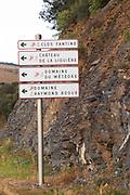 Clos Fantine, Chateau de la Liquiere, Domaine du Meteore, Domaine Raymond Roque. Schist mountain rock. Near La Liquiere village. Faugeres. Languedoc. France. Europe.