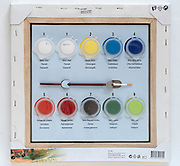 painting by number canvas and paint set