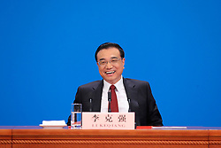 Chinese Premier Li Keqiang reacts during a press conference at the Great Hall of the People in Beijing, capital of China, March 16, 2016. EXPA Pictures © 2016, PhotoCredit: EXPA/ Photoshot/ Xing Guangli<br /> <br /> *****ATTENTION - for AUT, SLO, CRO, SRB, BIH, MAZ, SUI only*****