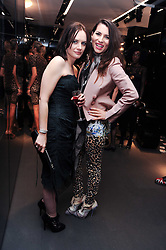 Left to right, EILIDH MacASKILL and GRACE WOODWARD at a party hosted by InStyle to celebrate the iconic glamour of Dolce & Gabbana held at D&G, 6 Old Bond Street, London on 3rd November 2010.