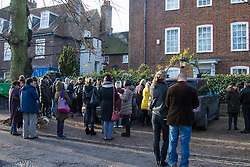 Highgate, London, December 26th 2016. Fans gather outside the London home of pop icon George Michael who died on Christmas day. PICTURED: A general view of part of the gathering outside George Michael's house.