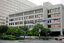 20 April 2015. New Orleans, Louisiana.<br /> The Hale Boggs federal building and federal court on Canal Street. <br /> Photo; Charlie Varley/varleypix.com