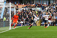 Kieran Trippier of Tottenham Hotspur clears the ball from danger. Premier League match, Burnley v Tottenham Hotspur at Turf Moor in Burnley , Lancs on Saturday 1st April 2017.<br /> pic by Chris Stading, Andrew Orchard sports photography.