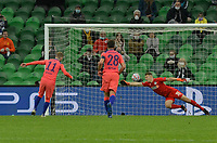 KRASNODAR, RUSSIA - OCTOBER 28: Timo Werner scores Chelseas second goal during the UEFA Champions League Group E stage match between FC Krasnodar and Chelsea FC at Krasnodar Stadium on October 28, 2020 in Krasnodar, Russia. (Photo by MB Media)