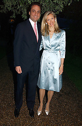 COUNT & COUNTESS ALLESANDRO GUERRINI-MARALDI at the annual Chelsea Flower Show dinner hosted by jewellers Cartier at the Chelsea Pysic Garden, London on 22nd May 2006.<br /><br />NON EXCLUSIVE - WORLD RIGHTS