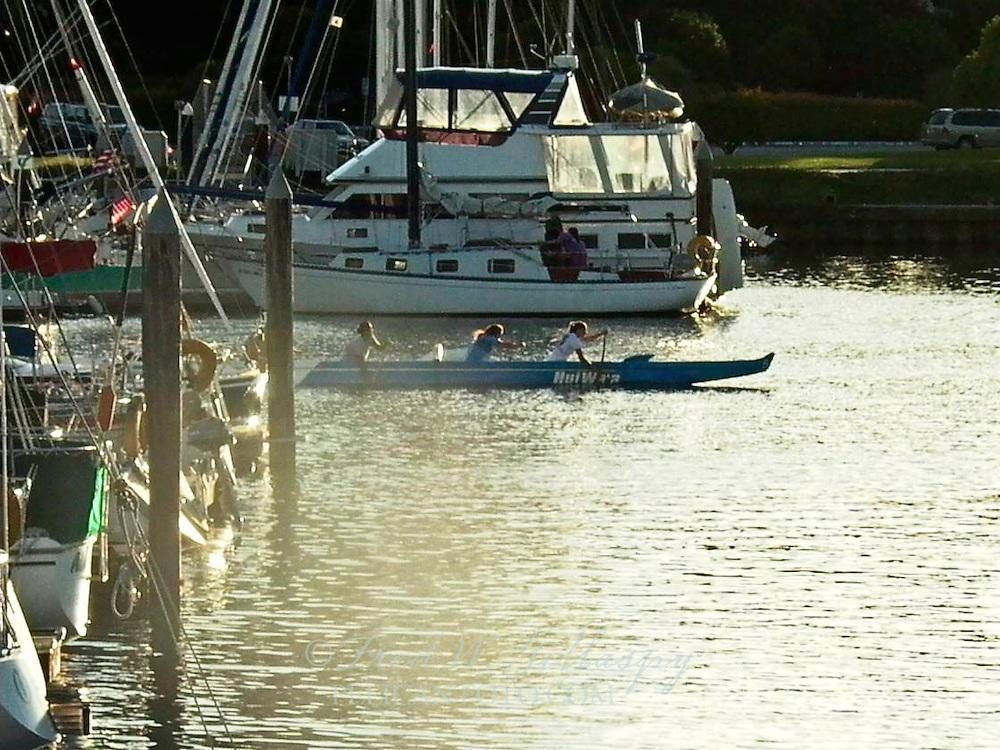 Santa Cruz Harbor ~ Outriggers ~ 0858