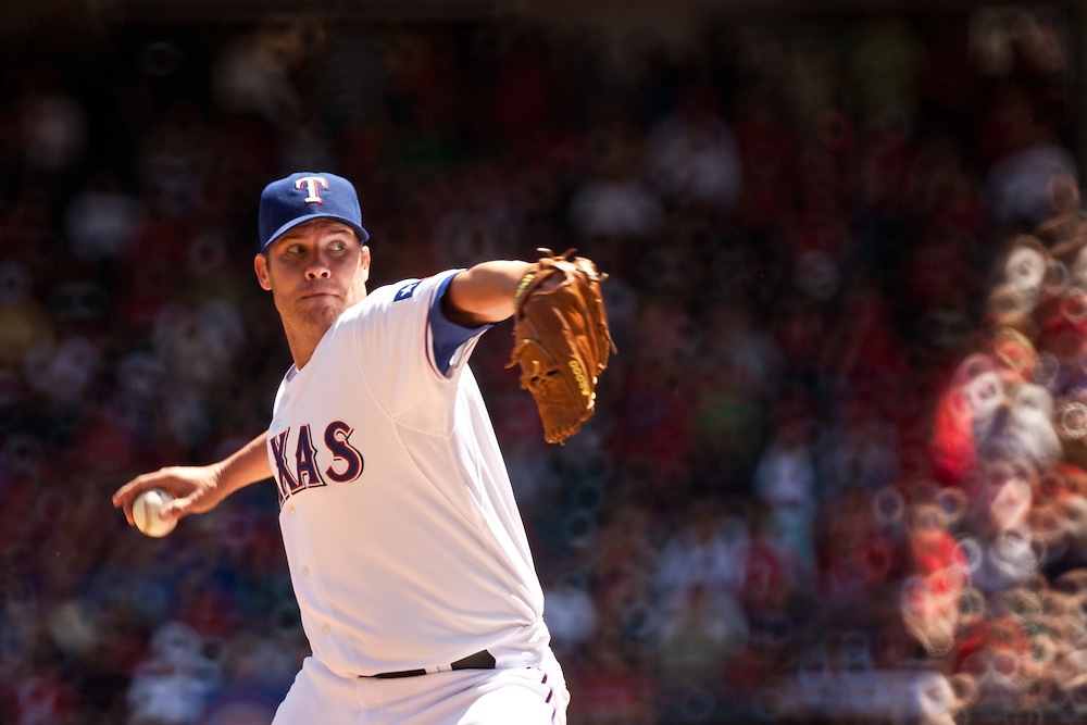 Colby Lewis #48 RHP. Detroit Tigers at Texas Rangers. Photographed at Rangers Ballpark in Arlington in Arlington, Texas on Sunday, April 26, 2010. Photograph © 2010 Darren Carroll
