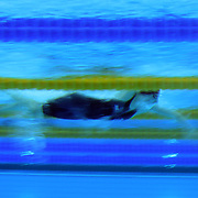 An underwater view of Rebecca Adlington, Great Britain, in action at the start of a Women's 800m freestyle heat at the Aquatic Centre at Olympic Park, Stratford during the London 2012 Olympic games. London, UK. 1st August 2012. Photo Tim Clayton