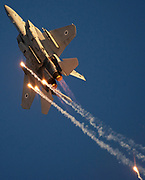 Israeli Air force (IAF) F-15B Fighter jet in flight