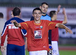 Arnel Mahmutovic of Rudar celebrates at 1st Round of Europe League football match between NK Rudar Velenje (Slovenia) and Trans Narva (Estonia), on July 9 2009, in Velenje, Slovenia. Rudar won 3:1 and qualified to 2nd Round. (Photo by Vid Ponikvar / Sportida)