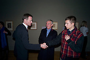 NICHOLAS SEROTA; LORD EVANS; TOMAS EVANS, Van Dyck private view and dinner. Tate Britain. 16 February 2009 *** Local Caption *** -DO NOT ARCHIVE -Copyright Photograph by Dafydd Jones. 248 Clapham Rd. London SW9 0PZ. Tel 0207 820 0771. www.dafjones.com<br /> NICHOLAS SEROTA; LORD EVANS; TOMAS EVANS, Van Dyck private view and dinner. Tate Britain. 16 February 2009