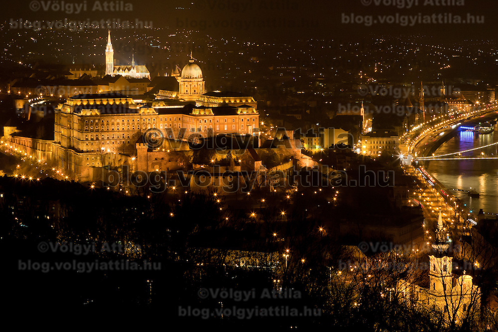 Photo of the cityscape during the Earth Hour in Budapest, Hungary on March 26, 2011. ATTILA VOLGYI