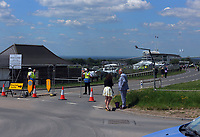 Horse Racing - Epsom Festival - Derby Day - Epsom Downs<br /> <br /> Fences close off viewing to the public down to the main stand<br /> <br /> Credit : COLORSPORT/ANDREW COWIE