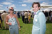 MARTHA WARD; RICHARD DENNEN, Cartier International Polo. Guards Polo Club. Windsor Great Park. 25 July 2010. -DO NOT ARCHIVE-© Copyright Photograph by Dafydd Jones. 248 Clapham Rd. London SW9 0PZ. Tel 0207 820 0771. www.dafjones.com.