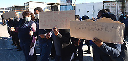 SOUTH AFRICA - Cape Town - 8 July  2020  - Community Health Care Workers picketing outside Michael Mapongwana day hospital in Khayelitsha,demanding R12,500 salary and full government benefits.They were doing this whilst waiting for the arrival of Minister of Health in the W.C Nomafench who decided to cancel her visit because she was confronted by a group of Community Health Care Workers outside Site B Clinic . Picture: Phando Jikelo/African News Agency(ANA)