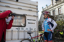 Cecilia Uttrup Ludwig (DEN) of Cervélo-Bigla Cycling Team poses for a photo before the Liege-Bastogne-Liege Femmes - a 135.5 km road race, between  Bastogne and Ans on April 23, 2017, in Liege, Belgium.
