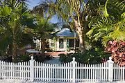 Luxury home with picket fence at the vacation resort of Anna Maria Island, Florida, United States of America