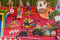 colorful traditional house of  Villa de Leyva Boyaca in Colombia South America