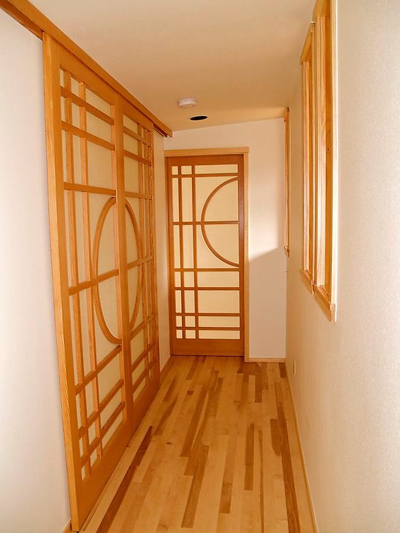 Shoji screen doors<br /> clear vertical grain fir and paper<br /> These doors were designed and built for a remodeled home in Eldorado Springs, Co. custom doors, handmade