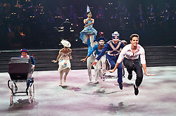 ©London News Pictures. 08/06/2011. English National ballet present Strictly Gershwin, a dazzling homage to George Gershwin, the big band era and the razzmatazz of the forties. The dancers of English National Ballet, including Daria Klimentová and Vadim Muntagirov are joined by special guests and a live jazz orchestra for this fabulous in-the-round dance spectacular..Photo credit should read Tony Nandi/London News Pictures.