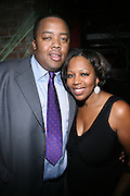 """l to r: William Boyland and Dr. Katrice Austin  at The Russell Simmons and Spike Lee  co-hosted""""I AM C.H.A.N.G.E!"""" Get out the Vote Party presented by The Source Magazine and The HipHop Summit Action Network held at Home on October 30, 2008 in New York City"""