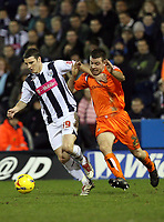 Photo: Rich Eaton.<br /> <br /> West Bromwich Albion v Luton Town. Coca Cola Championship. 12/01/2007. Jaosn Koumas left of West Brom gets past Lutons Keith  Keane