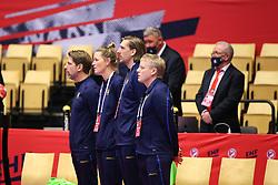 HERNING, DENMARK - DECEMBER 3, 2020: Swedish coaches before the EHF Euro 2020 Group C match between Sweden and Czech Republic in Jyske Bank Boxen, Herning, Denmark on December 3 2020. Photo Credit: Allan Jensen/EVENTMEDIA.