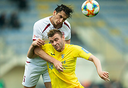 Tin Karamatić of Triglav vs Slobodan Vuk of Domzale during Football match between NK Domzale and NK Triglav in 26th Round of Prva liga Telekom Slovenije 2018/19, on April 10, 2019, in Sports park Domzale, Slovenia. Photo by Vid Ponikvar / Sportida