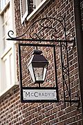 McCrady's restaurant in the historic district of Charleston, SC.