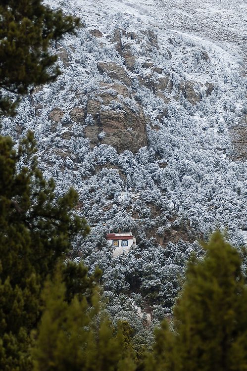 Solitary retreat near Reting Monastery, Tibet, China. Photo ©robertvansluis.com