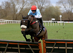 Solstice Star ridden by Miss Brodie Hampson during the Abacus Decorators Lady Riders' Handicap Hurdle race at Uttoxeter Racecourse.