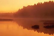 Fog at sunrise on the VermilionRiver<br /> Capreol<br /> Ontario<br /> Canada