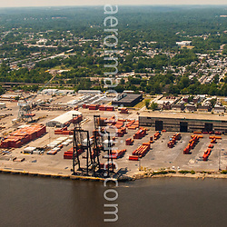 Aerial view of the Penn Terminals, Chester Pa