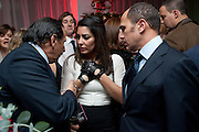 ALI KAZMI; LAILA ROUASS; OTHMANE BELMAHI, English National Ballet launches its Christmas season with a partyu before s performance of The Nutcracker at the Coliseum.  St. Martin's Lane Hotel.  London. 16 December 2009 *** Local Caption *** -DO NOT ARCHIVE-© Copyright Photograph by Dafydd Jones. 248 Clapham Rd. London SW9 0PZ. Tel 0207 820 0771. www.dafjones.com.<br /> ALI KAZMI; LAILA ROUASS; OTHMANE BELMAHI, English National Ballet launches its Christmas season with a partyu before s performance of The Nutcracker at the Coliseum.  St. Martin's Lane Hotel.  London. 16 December 2009
