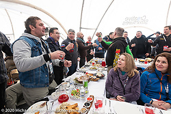 A feast was laid out on the ice for regional officials and special guests of the