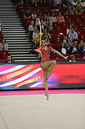 Natalia Garcia, Spain, during day one of the 33rd European Rhythmic Gymnastics at Papp Laszlo Budapest Sports Arena, Budapest, Hungary on 19 May 2017. Photo by Myriam Cawston.