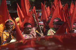 May 1, 2017 - Dhaka, Bangladesh - Bangladeshi garment workers from different participates a rally to celebrate May Day in front of the National Press Club. (Credit Image: © Md. Mehedi Hasan via ZUMA Wire)