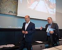 DEU, Deutschland, Germany, Berlin, 12.05.2020: Bundesfinanzminister Olaf Scholz (SPD) und der SPD-Parteivorsitzende Norbert Walter-Borjans bei der Fraktionssitzung der SPD im Deutschen Bundestag.