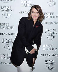 Victoria Pendleton attending the Harper's Bazaar Woman of the Year awards at Claridges in London. Picture date: Monday October 31, 2016. Photo credit should read: Isabel Infantes / EMPICS Entertainment.